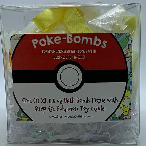 Poke-bomb (Pika-Peach) 5.5 oz Bath Bomb Gift Set (Georgia Peach)