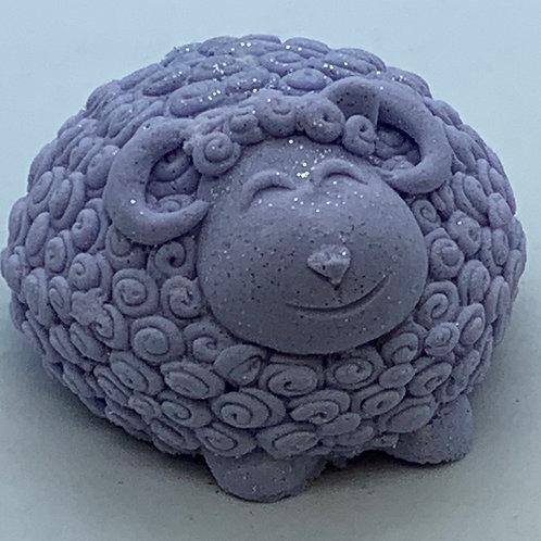 Calabrian, Bergamot & Violet 6oz Sheep Bath Bomb Fizzie