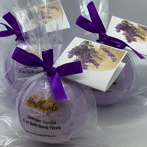 Lavender Vanilla - Three (3) XL 5.5 oz Bath Bomb Fizzies