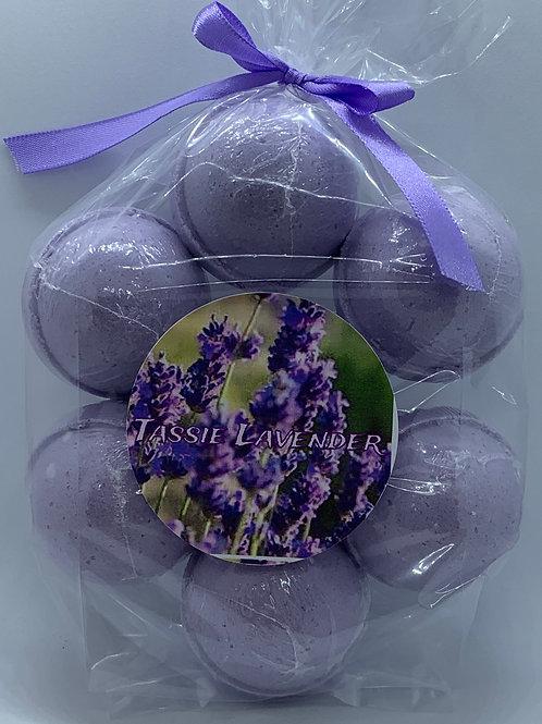Tassie Lavender 7-pack Bath Bomb Fizzies