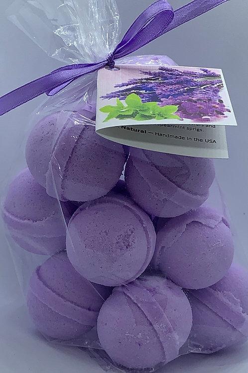Lavender Mint 14-pack Bath Bomb Fizzies (round balls)