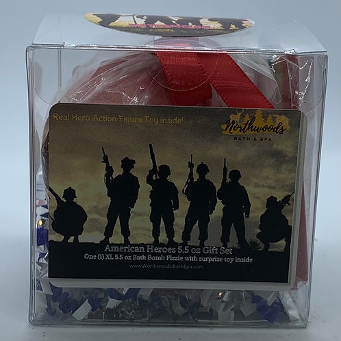 American Heroes (Watermelon) 5.5 oz Bath Bomb Gift Set