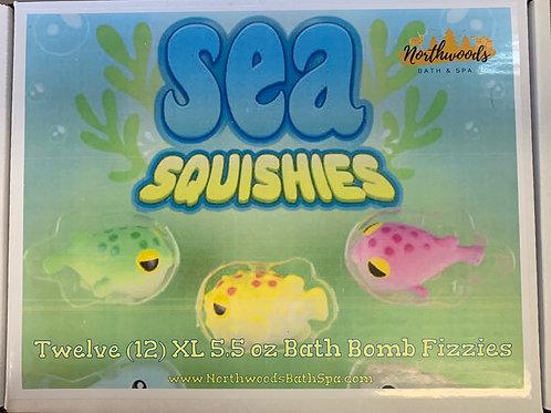 Large 5.5 oz Sea Squishies 12-pack Bath Bomb Gift Set
