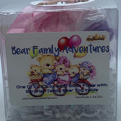 """Aristotle"" Bear Family Adventures (Cherry Slush) 5.5 oz Bath Bomb Gift Set"