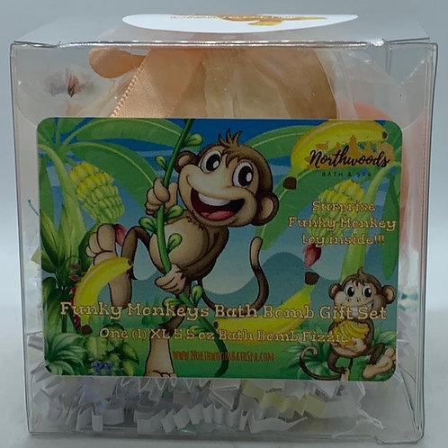 Funky Monkeys (Clementine) 5.5 oz Bath Bomb Gift Set