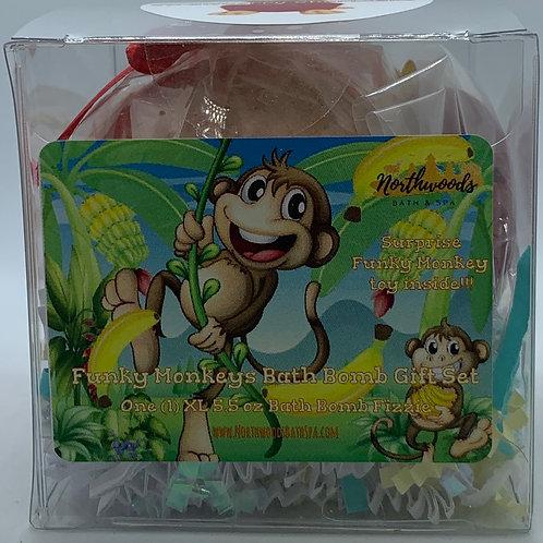 Funky Monkeys (Strawberry Shortcake) 5.5 oz Bath Bomb Gift Set