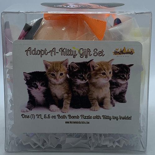 """Adopt-A-Kitty """"Pumpkin"""" 5.5 oz Bath Bomb Gift Set (Ginger Peach)"""