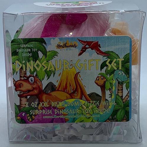 Colossal Dinosaur (Watermelon Sorbet) XXL 8 oz Bath Bomb Gift Set (hot pink)