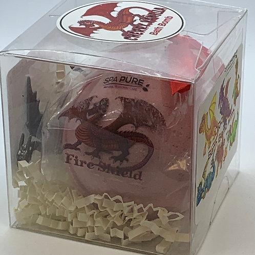 """Dragon """"Fire Shield"""" XL 5.5 oz Bath Bomb Gift Set"""