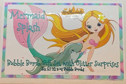 Mermaid Splash 6-pack Bubble Bomb Gift Set