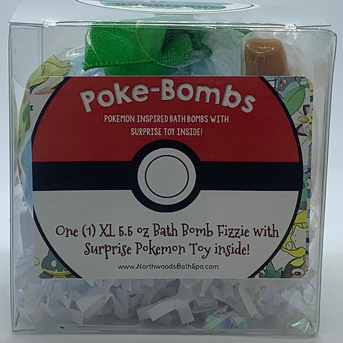 Poke-bomb (Bulbasaur) 5.5 oz Bath Bomb Gift Set