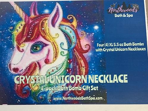 Crystal Unicorn Necklace 4-pack Gift Set
