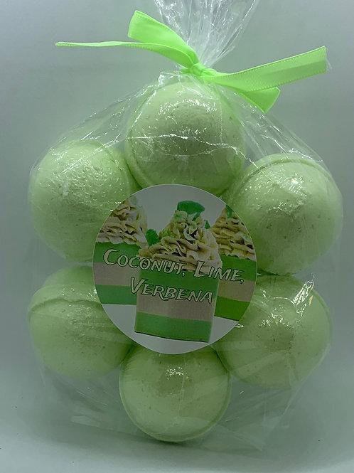 Coconut, Lime, Verbena 7-pack Bath Bomb Fizzies