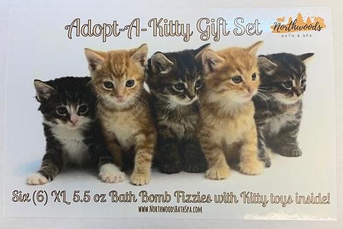 Adopt-A-Kitty 6-pack Bath Bomb Gift Set