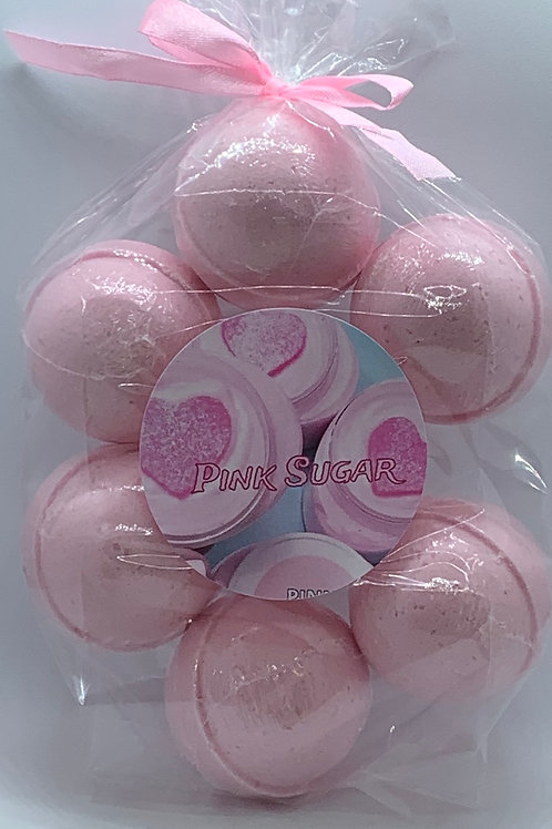 Pink Sugar 7-pack Bath Bomb Fizzies