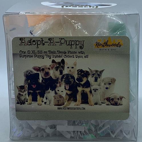 "Adopt-A-Puppy ""Jack"" 5.5 oz Bath Bomb Gift Set (Peach)"