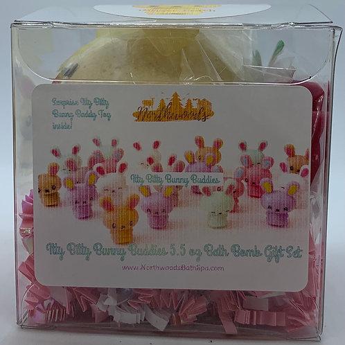 Itty Bitty Bunny Buddies (Ginger Peach) 5.5 oz Bath Bomb Gift Set