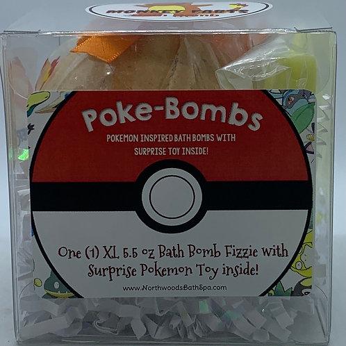 Poke-bomb (Charmander Bananer) 5.5 oz Bath Bomb Gift Set (Monkey Farts)