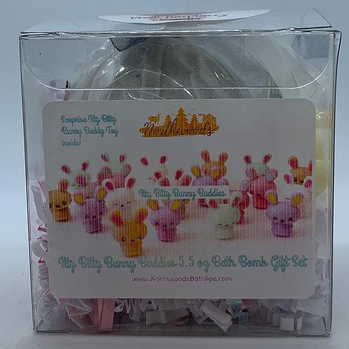 Itty Bitty Bunny Buddies (Black Raspberry Vanilla) 5.5 oz Bath Bomb Gift Set
