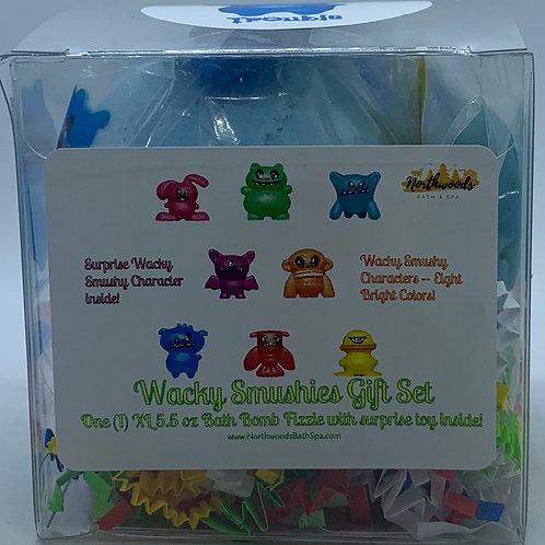 Wacky Smushies (Trouble) 5.5 oz Bath Bomb Gift Set (Blue Raspberry Slushie)
