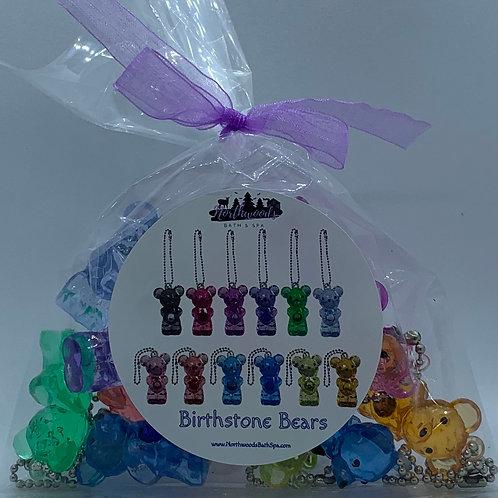 Birthstone Bears Keychain Toys - Set of 12