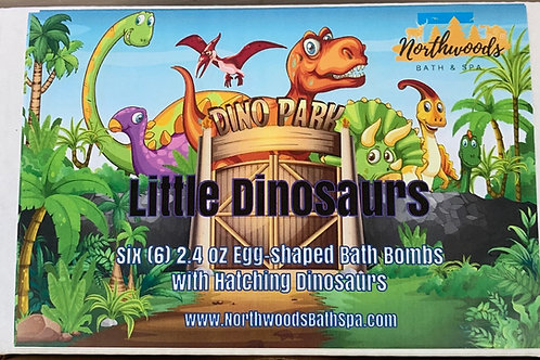 Little Dinosaurs 6-pack 2.4 oz Bath Bomb Gift Set