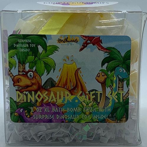Colossal Dinosaur (Goodie Gumdrop) XXL 8 oz Bath Bomb Gift Set