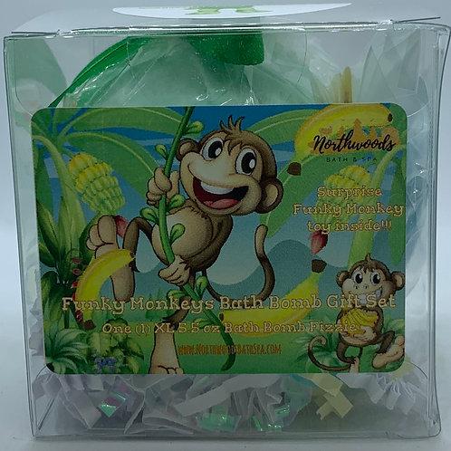 Funky Monkeys (Cucumber Melon) 5.5 oz Bath Bomb Gift Set