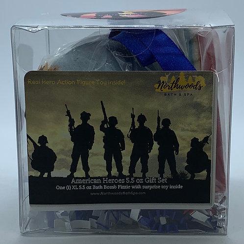 American Heroes (Blueberry) 5.5 oz Bath Bomb Gift Set