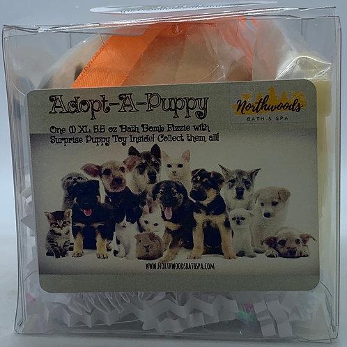"Adopt-A-Puppy ""Jack"" 5.5 oz Bath Bomb Gift Set (Clementine)"