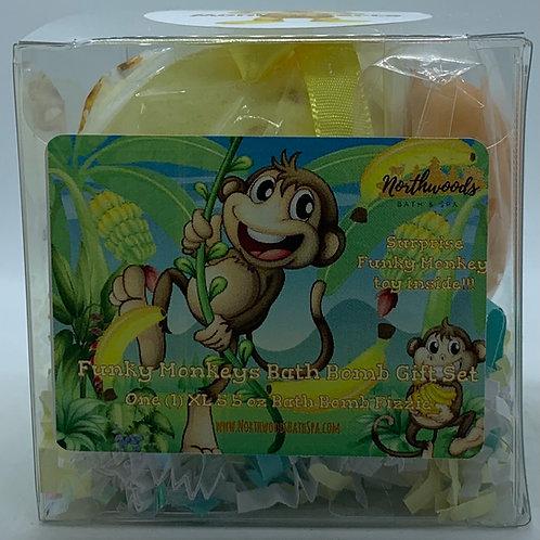 Funky Monkeys (Monkey Farts) 5.5 oz Bath Bomb Gift Set