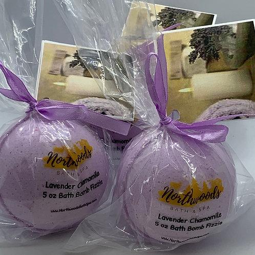 Lavender Chamomile - Three (3) XL 5.5 oz Bath Bomb Fizzies