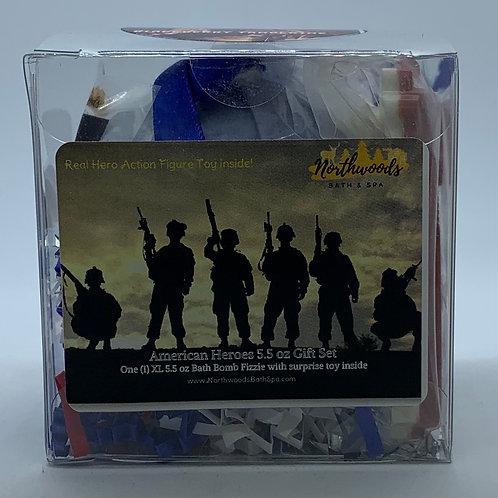 American Heroes (Blackberry Tangerine) 5.5 oz Bath Bomb Gift Set