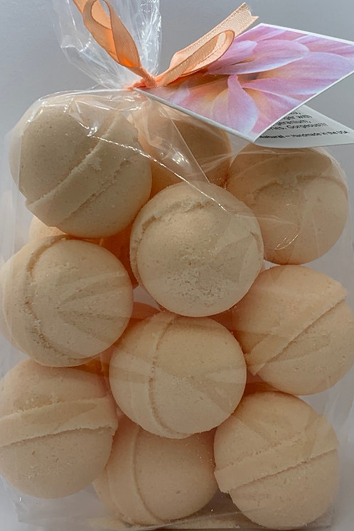 White Tea & Ginger 14-pack Bath Bomb Fizzies (round balls)