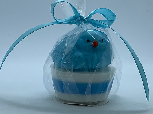 """Squishy Blue Chick 1.4 oz """"Easter Bunny Burps"""" Soap"""