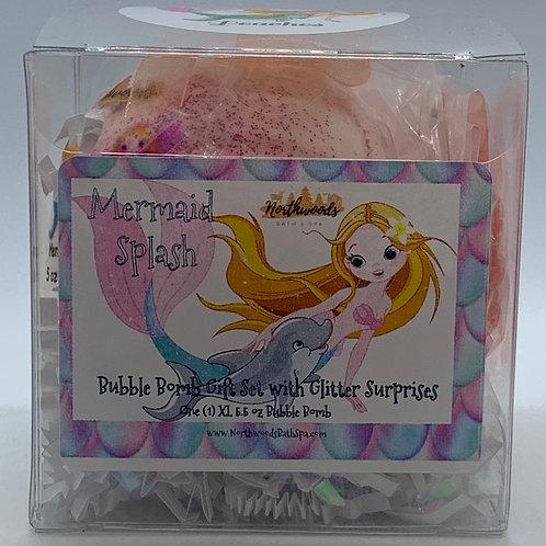 "Mermaid Splash ""Peaches"" 5.5 oz Bubble Bomb Gift Set"