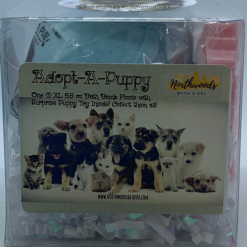 Adopt-A-Puppy (Sassy) 5.5 oz Bath Bomb Gift Set