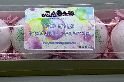 1000 Kisses 4-pack Bubble Bomb Gift Set