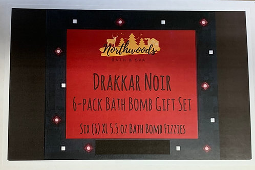 Drakkar Noir 6-pack Bath Bomb Gift Set