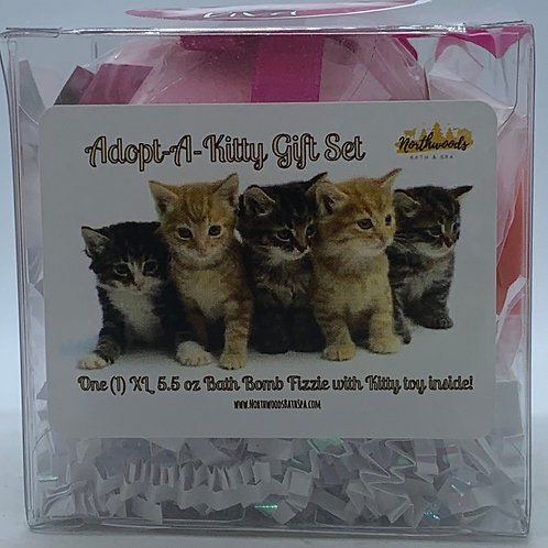 "Adopt-A-Kitty ""Diva"" 5.5 oz Bath Bomb Gift Set (Sweet Pea)"