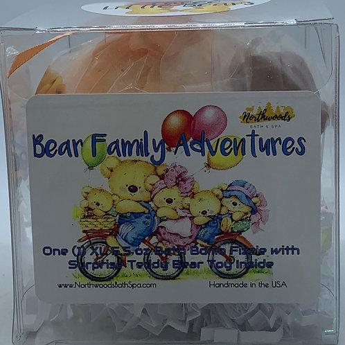 """3 Little Bears"" (#1) Bear Family Adventures (Clementine) 5.5 oz Bath Bomb Gif"