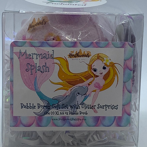 "Mermaid Splash ""Enchanted"" 5.5 oz Bubble Bomb Gift Set"