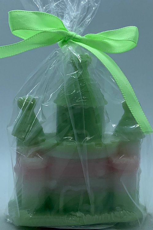 """Castle 2 oz """"Fairy Dust/Cucumber Melon"""" Soap (white, pink, and green)"""