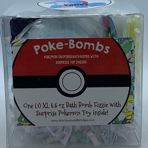 Poke-bomb (Tangy) 5.5 oz Bath Bomb Gift Set (Blackberry Tangerine)