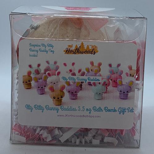 Itty Bitty Bunny Buddies (Pink Sugar) 5.5 oz Bath Bomb Gift Set