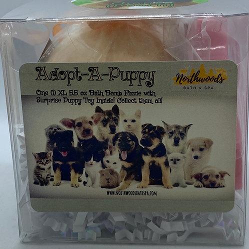 """Adopt-A-Puppy """"Chance"""" 5.5 oz Bath Bomb Gift Set (Peach)"""