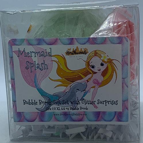 "Mermaid Splash ""Melon"" 5.5 oz Bubble Bomb Gift Set"