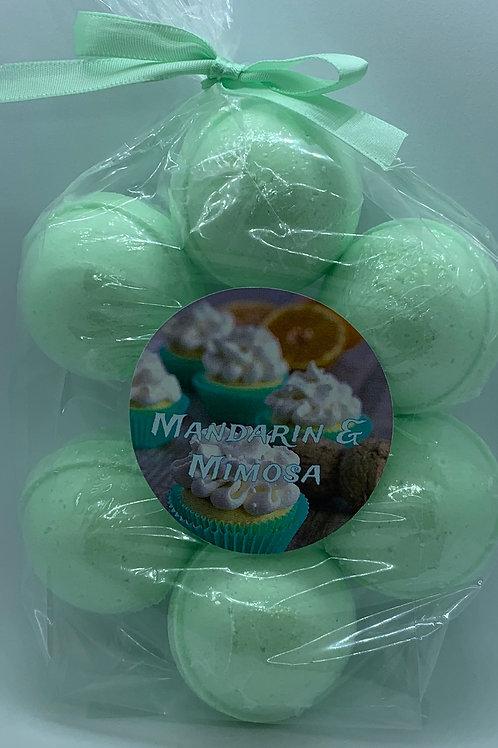 Mandarin & Mimosa 7-pack Bath Bomb Fizzies