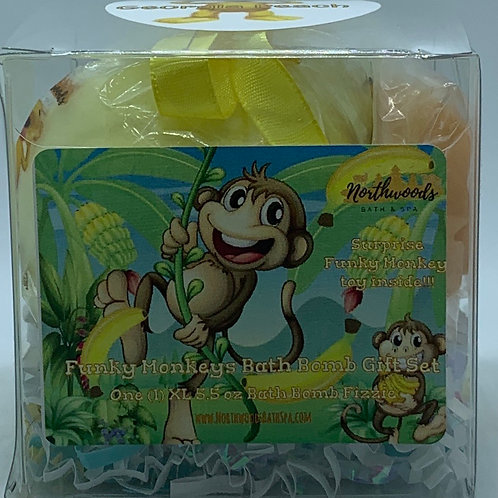 Funky Monkeys (Georgia Peach) 5.5 oz Bath Bomb Gift Set