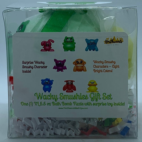 Wacky Smushies (Noodles) 5.5 oz Bath Bomb Gift Set